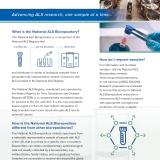 National ALS Biorepository informational flyer.